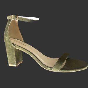 Shoe Republic LA Suede Ankle Strap Heels
